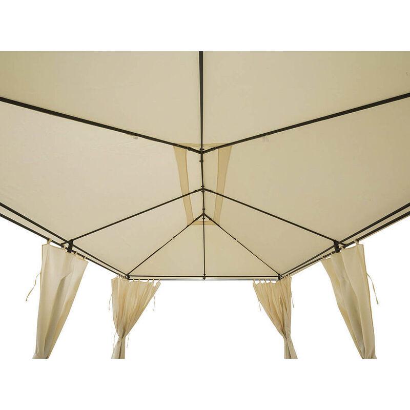 HESPERIDE Toile de toit pour la tonnelle Santorini 3 x 4 m Ecru