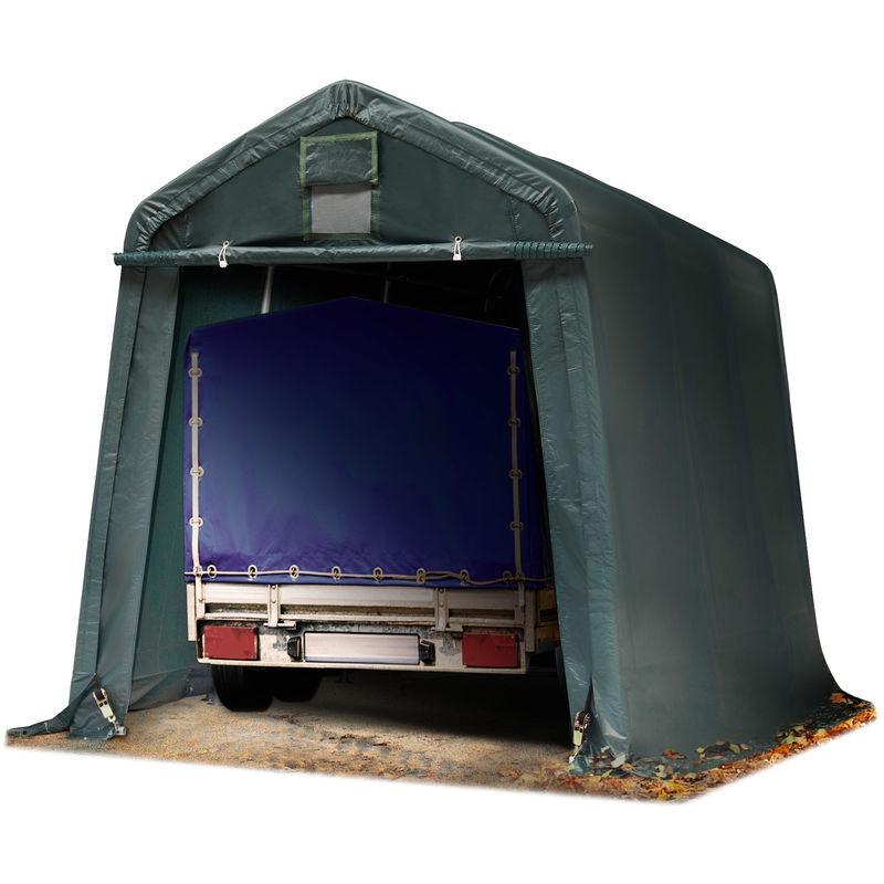 INTENT24.FR Abri/Tente garage PREMIUM 2,4 x 3,6 m pour voiture et bateau - toile PVC env.