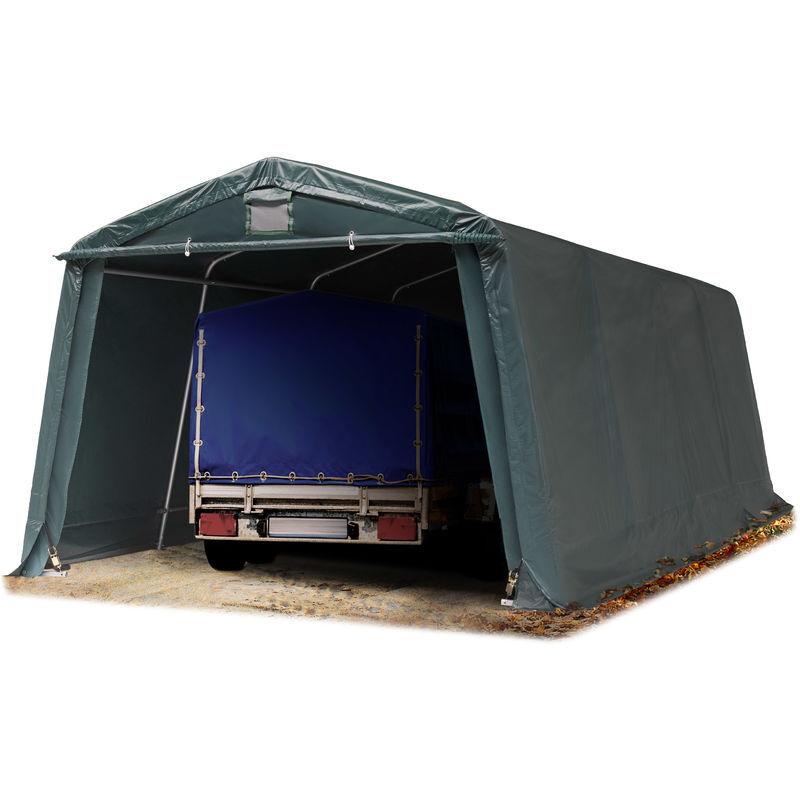 INTENT24.FR Abri/Tente garage PREMIUM 3,3 x 6,2 m pour voiture et bateau - toile PVC env.