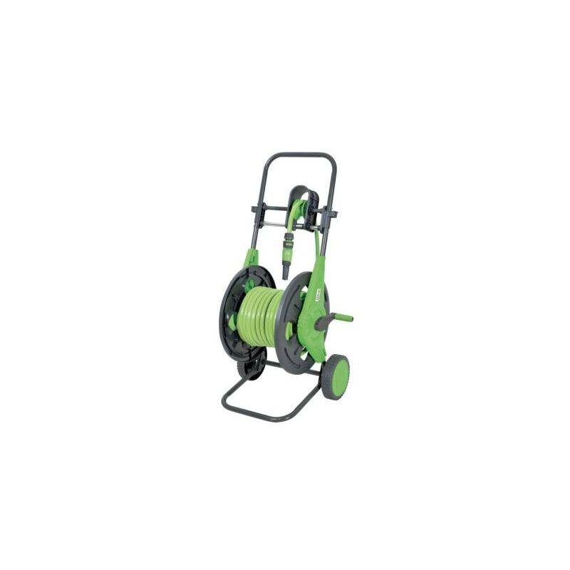 Heliotrade - Dévidoir enrouleur de tuyau de jardin sur roue avec guide tuyau +
