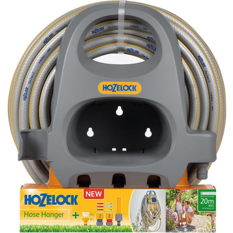 Hozelock - Porte-tuyau et tuyau Select 20m Ø12,5mm - Garantie 5 ans - 2364 0000