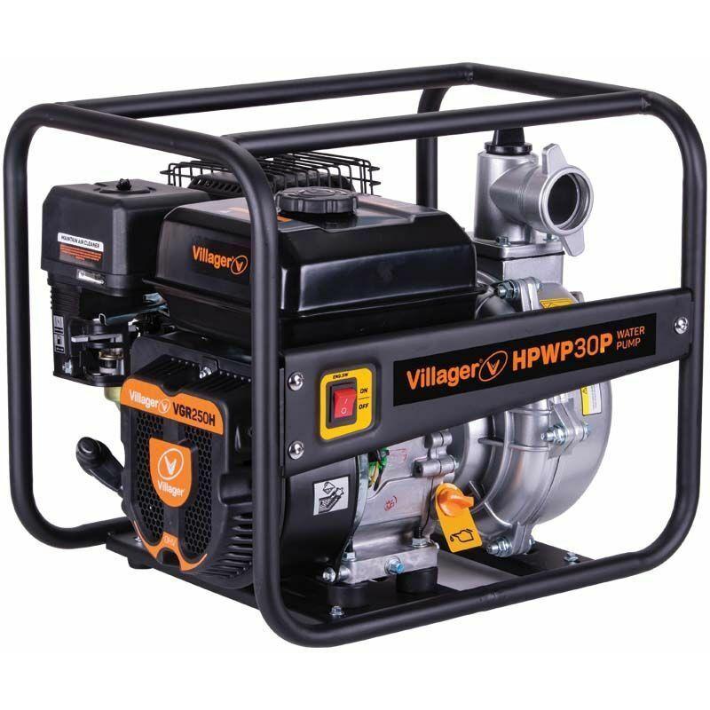 VILLAGER Motopompe thermique extrême pression 6,5 bars 212cc 30m3 heure Villager HPWP30P