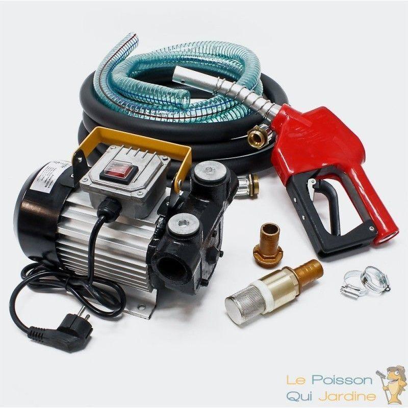 Www.lepoissonquijardine.fr - Pompe à gasoil - mazout - diesel 50l/m 550W 230V