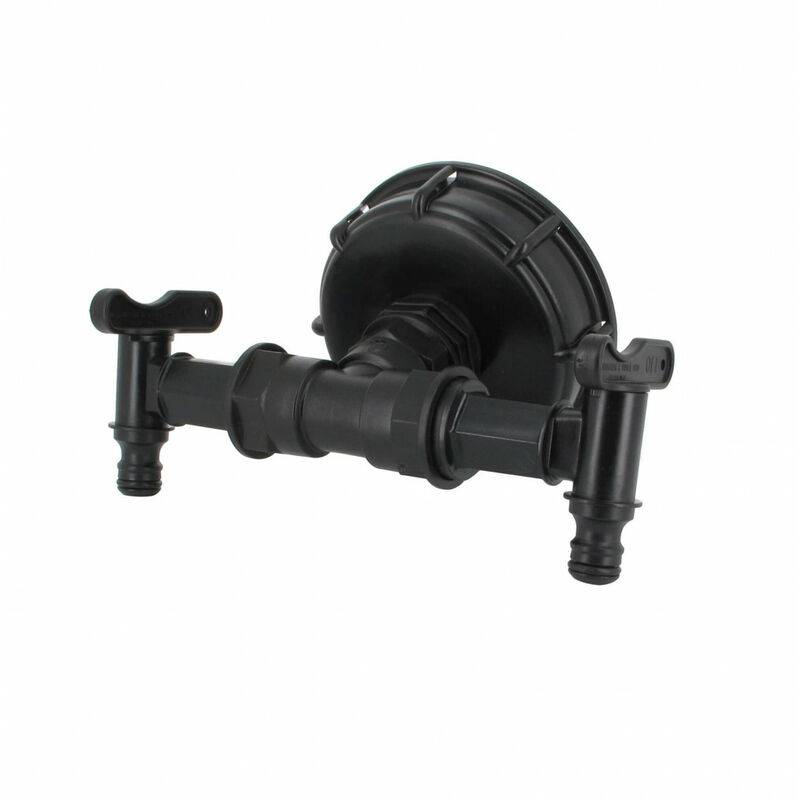 MULTICUVES Raccord S100X8 cuve eau - 2 robinets avec nez (type Gardena)
