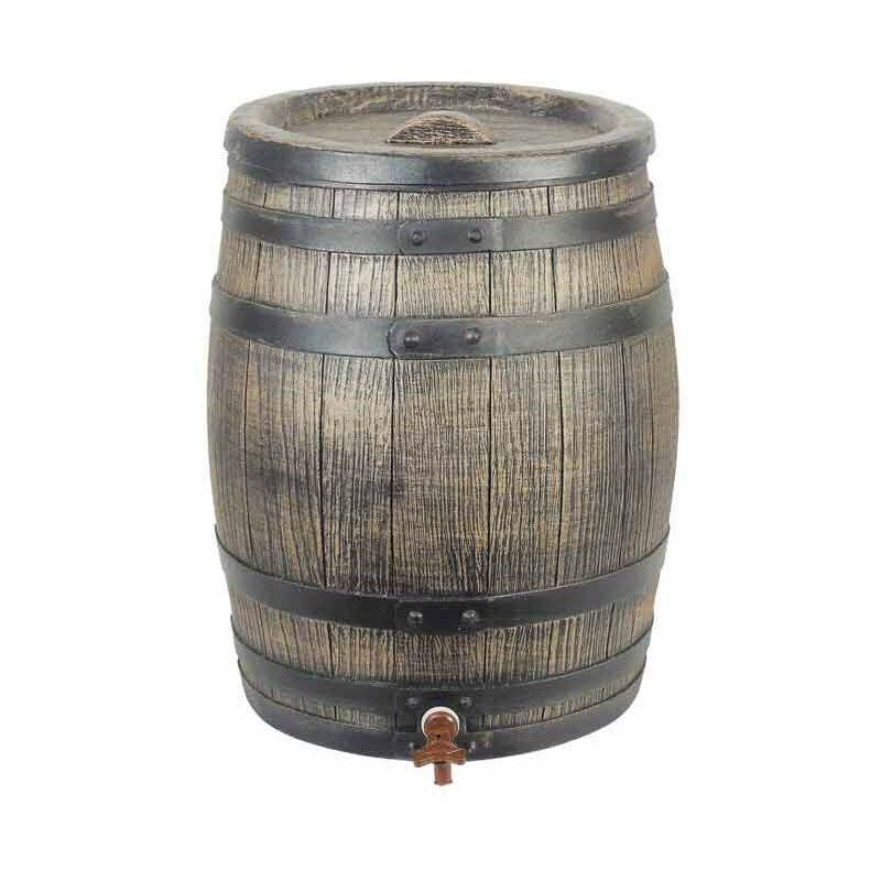 NATURE Récupérateur d'eau barrique 120 litres, Socle Sans socle