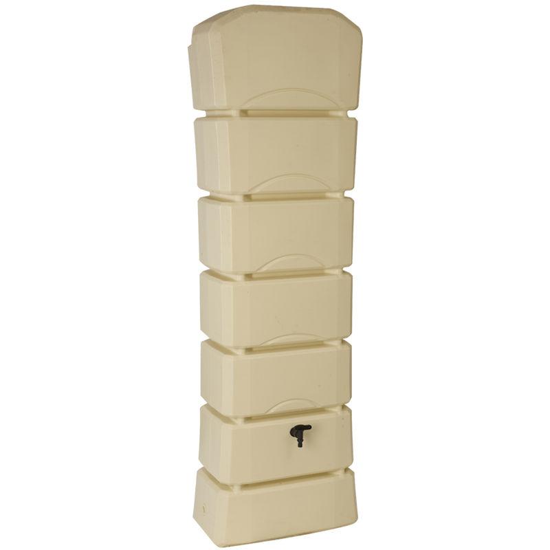 BELLIJARDIN Récupérateur d'eau de pluie Latitude 300 L beige + Kit raccord chéneau
