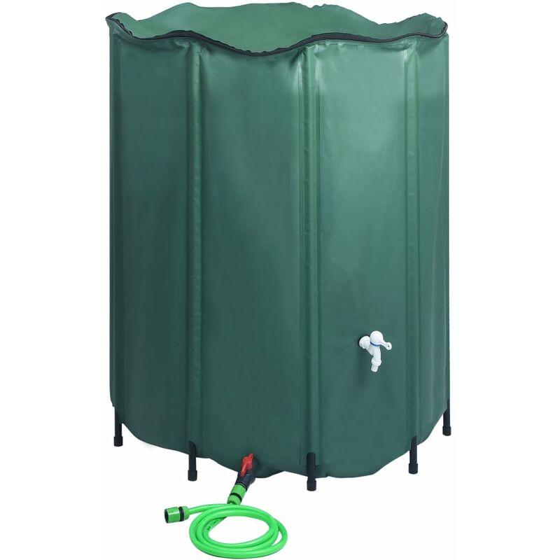 ZQYRLAR Réservoir pliable d'eau de pluie avec robinet 1000 L