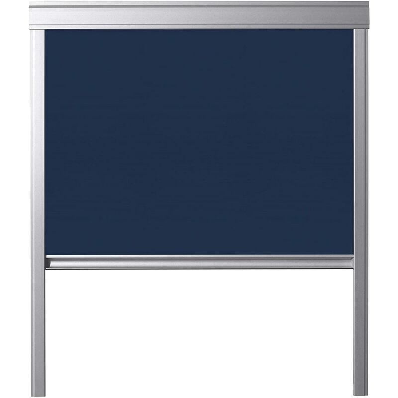 ITZALA Store occultant pour VELUX fenêtres de toit, S06, 606, 4, Bleu Foncé - Bleu