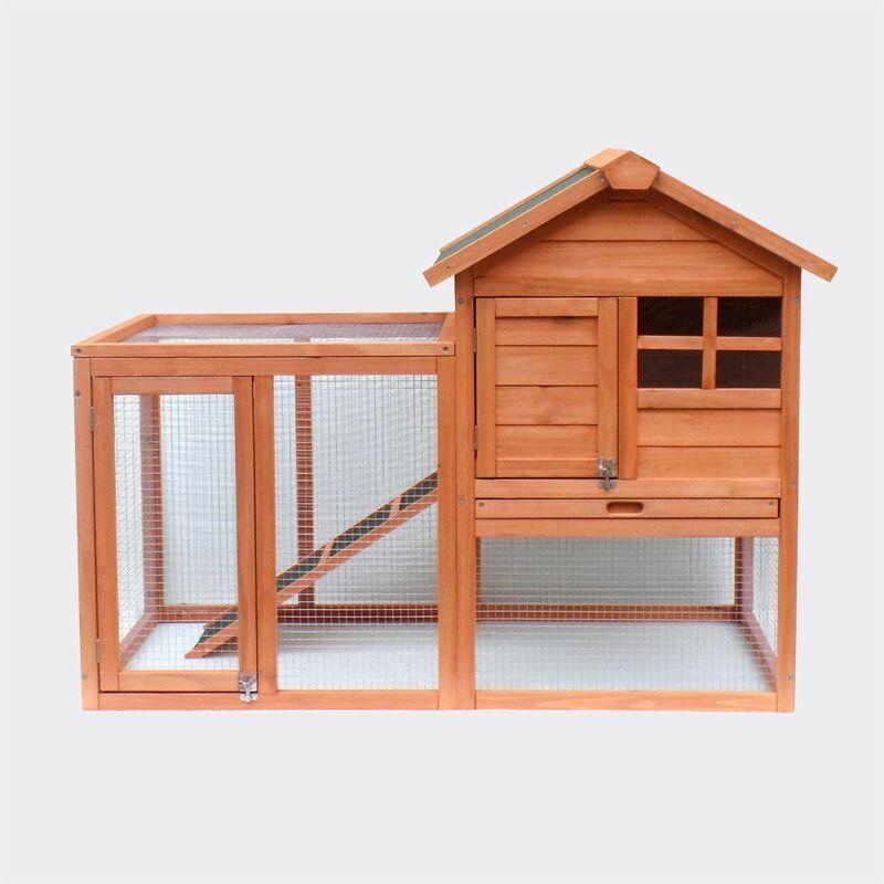 MERCATOXL Clapier Poulailler clapier a augmenté abri Stall 1220 x 630 x 920 mm