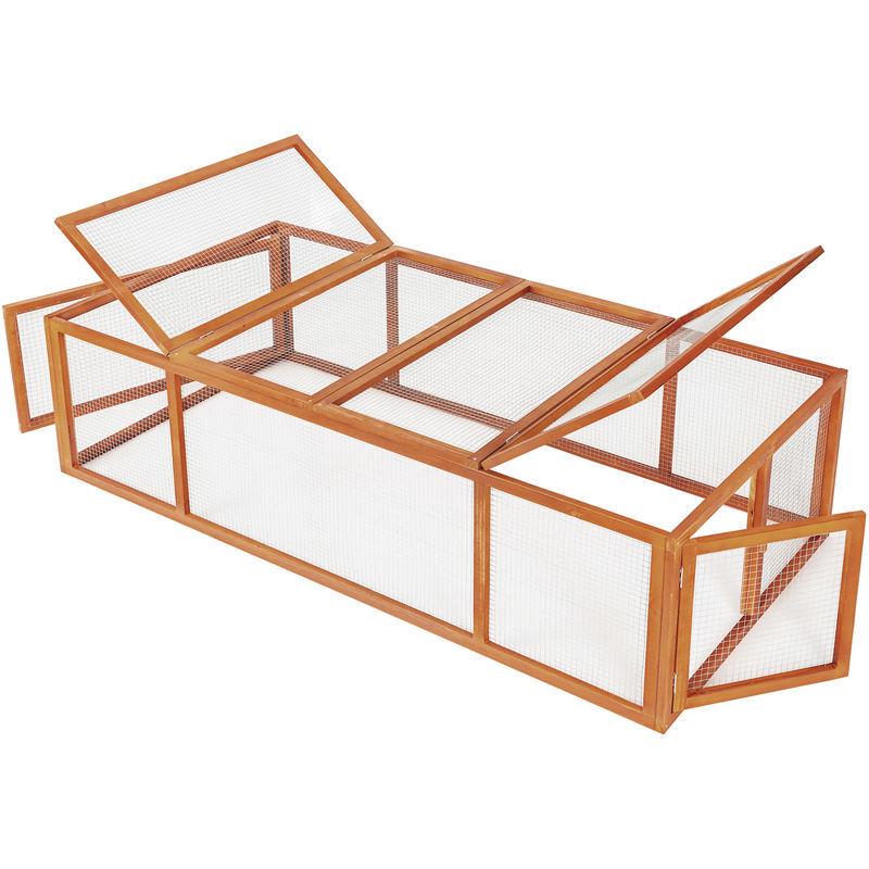 Tectake - Enclos pour rongeurs 181 x 90 x 48 cm - parc d´extérieur, enclos,