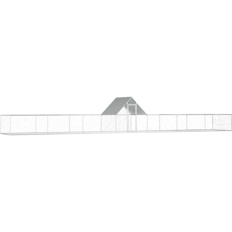 Vidaxl - Poulailler 14 x 2 x 2 m Acier galvanisé