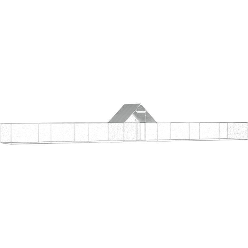 ASUPERMALL Poulailler 14 x 2 x 2 m Acier galvanise