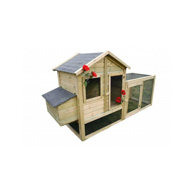 CHALET & JARDIN Chalet&jardin; - Poulailler - 3 à 4 poules = 1 bâche 2x3 m OFFERTE