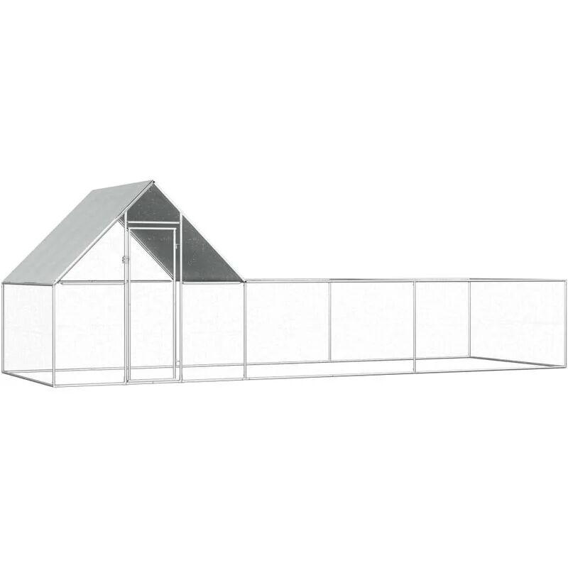 Vidaxl - Poulailler 6 x 2 x 2 m Acier galvanisé