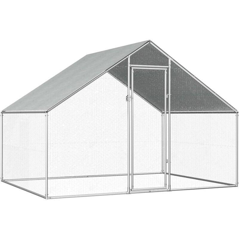 Zqyrlar - Poulailler d'extérieur 2,75 x 2 x 1,92 m Acier galvanisé
