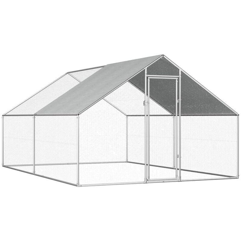 VIDAXL Poulailler d'extérieur 2,75 x 4 x 1,92 m Acier galvanisé