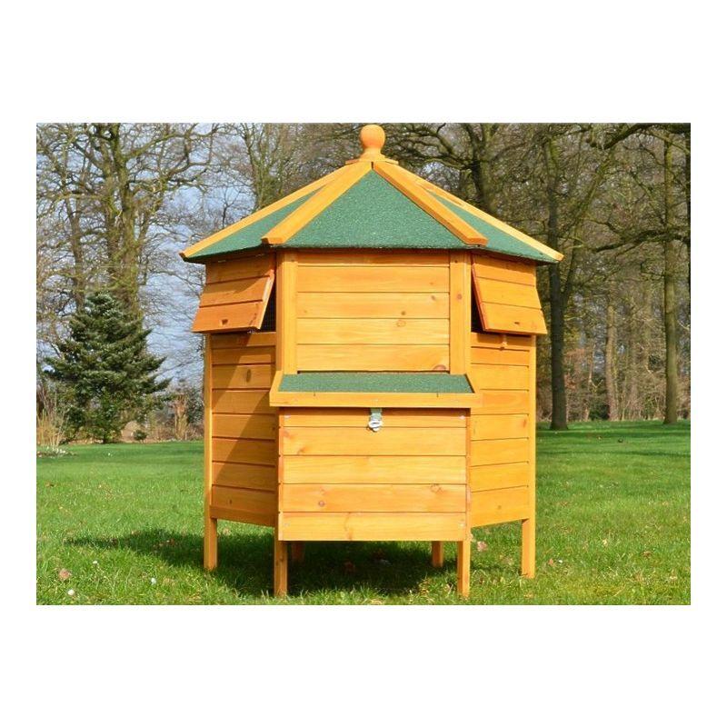 MERCATOXL Poulailler en Bois pour Poule Lapin Petits Animaux 125 cm