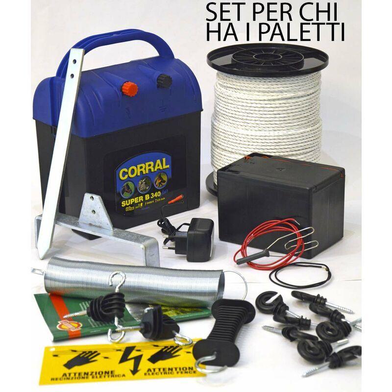 CORRAL Set x poteaux de fer avec batterie