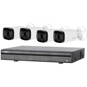 DAHUA Kit de vidéosurveillance enregistreur + 4 caméras compactes - 1080p - Dahua - Publicité
