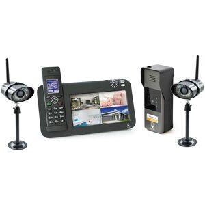SCS SENTINEL Kit Interphone vidéo DECT + vidéosurveillance, 1 platine + 2 caméras, 1 platine - Publicité