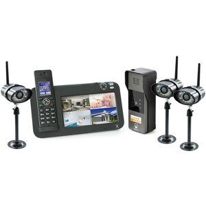 Scs Sentinel - Kit Interphone vidéo DECT + vidéosurveillance, 1 platine + 3 - Publicité
