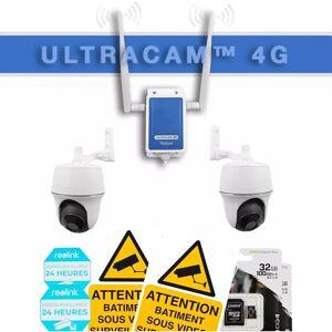 Ultra Secure - Système UltraCAM 4G vidéosurveillance sur smartphone - kit 2 - Publicité