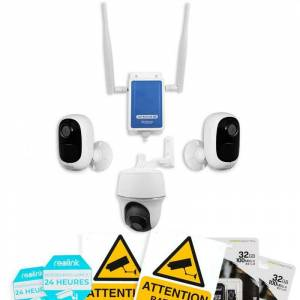 Ultra Secure - Système UltraCAM 4G vidéosurveillance sur smartphone - kit - Publicité