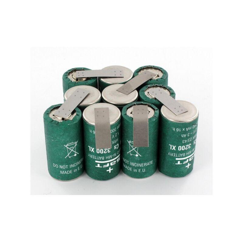 EXALIUM PREMIUM Batterie 12V 1.8Ah NiCd pour Aspirateur DV1205N Black & Decker