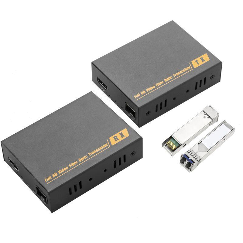BeMatik - Extension HDMI Ultra HD 4K pour fibre optique monomode LC duplex 300 m