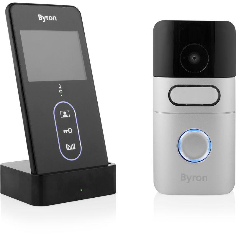 Byron DIC-24615 Interphone portier vidéo sans fil - Portable - 200 mètres de
