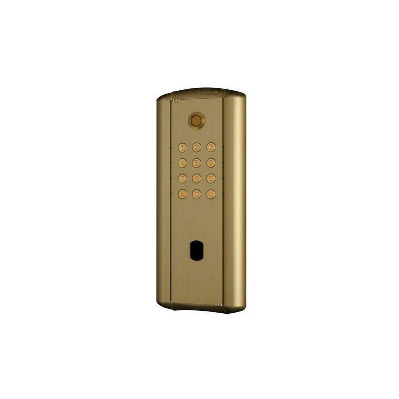 Cdvi - Digicode collectif en alu doré rétro éclairé,électronique intégrée 2