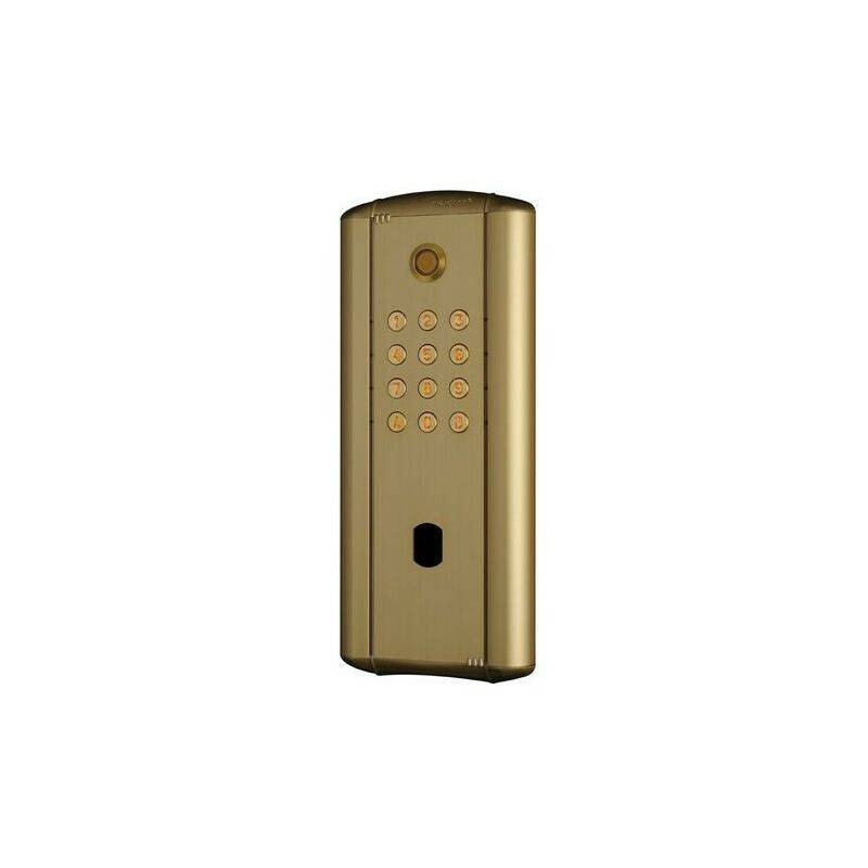CDVI Digicode collectif en alu doré rétro éclairé,électronique intégrée 2 relais