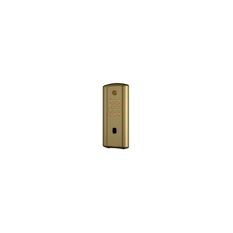 Cdvi - Digicode collectif en alu doré rétro éclairé,électronique intégrée 3