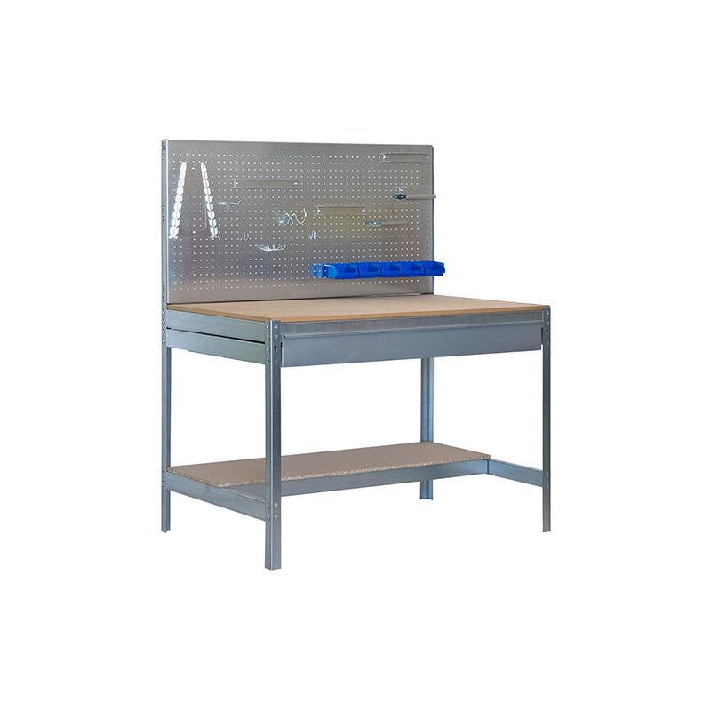 SIMONRACK Etabli 2 niv./panneau/1 tiroir 850 Kg L. 1210 x Ht. 1445 x P. 610 mm KIT