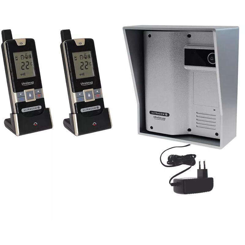 ULTRA SECURE Interphone 600 mètres individuel sans-fil - UltraCOM2 ARGENTÉ 600-SOLO visière
