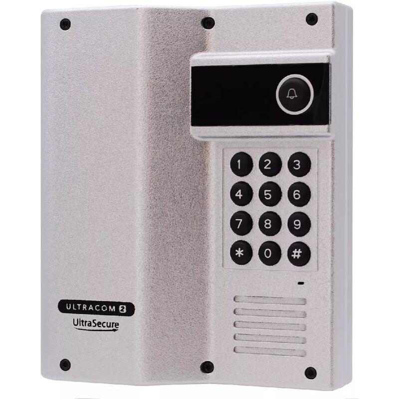 ULTRA SECURE Interphone 600m autonome digicode sans-fil longue distance - UltraCOM2 ARGENTÉ