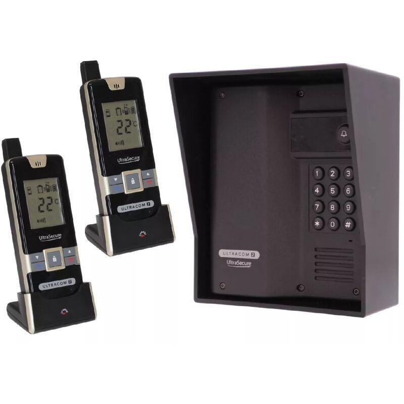 ULTRA SECURE Interphone 600m autonome digicode sans-fil longue distance - UltraCOM2 NOIR