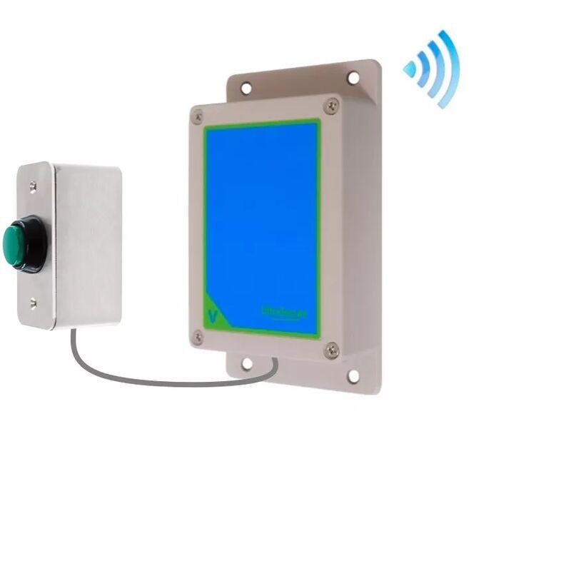 ULTRA SECURE Kit bouton-émetteur sonnette IP65 sans-fil autonome extérieure longue portée