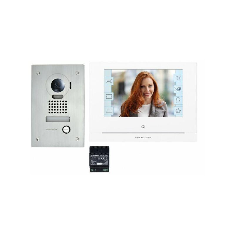 AIPHONE Kit portier Vidéo AIPHONE - Platine encastrée - module Wi-Fi intégré - JOS1FW