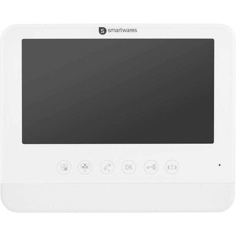SMARTWARES Interphone vidéo DIC-22202 DIC-22202 2 fils Station intérieure blanc 1 pc(s)