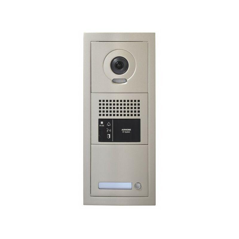 AIPHONE Platine de rue 1 bouton GT vidéo modulaire 1 x 3 modules sans boucle magnétique