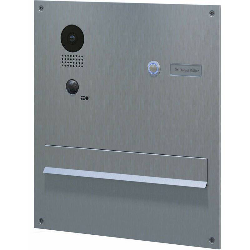 DOORBIRD Portier vidéo encastrable avec boite aux lettres intégrée Doorbird D203 - Gris