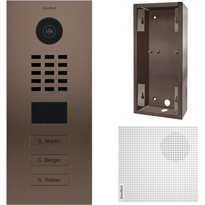 DOORBIRD Portier vidéo IP 3 sonnettes - Doorbird D2103BV Bronze - Bronze