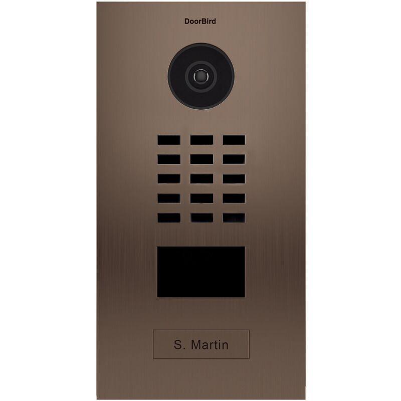 DOORBIRD Portier vidéo IP avec lecteur de badge RFID - Doorbird D2101BV Bronze - Bronze