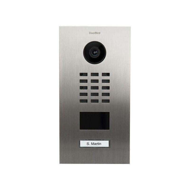 DOORBIRD Interphone vidéo IP D2101V Ethernet Station extérieure 1 foyer acier inoxydable