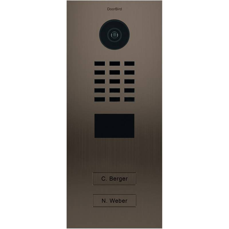 DOORBIRD Portier vidéo IP multi-utilisateurs - 2 sonnettes - Doorbird D2102BV Bronze