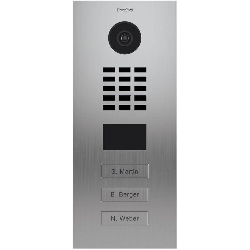 DOORBIRD Portier vidéo IP multi-utilisateurs - 3 sonnettes - Doorbird D2103V EAU SALEE