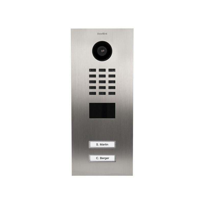 DOORBIRD Interphone vidéo IP D2102V Ethernet Station extérieure 2 foyers acier