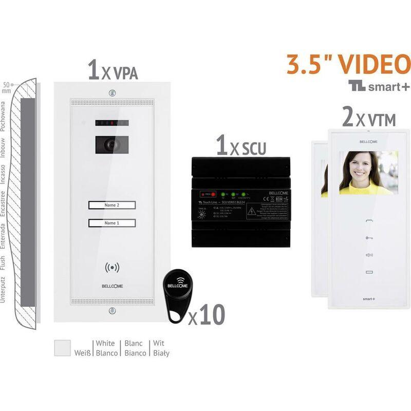 BELLCOME Interphone vidéo Bellcome VKM.P2FR.T3S4.BLW04 filaire Set complet 2 foyers