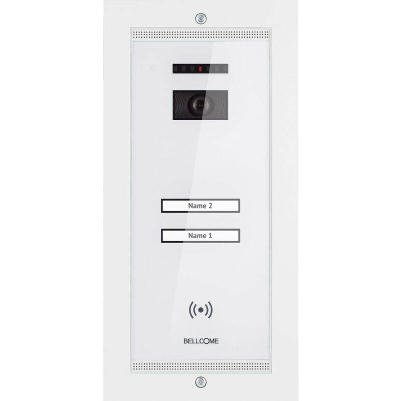 BELLCOME Interphone vidéo Bellcome VPA.2FR02.BLW04 filaire Station extérieure 2 foyers